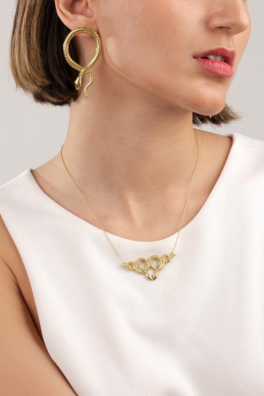 گردنبند طلا هرمس