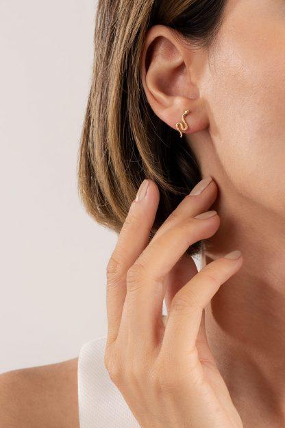 گوشواره طلا مار کوچک