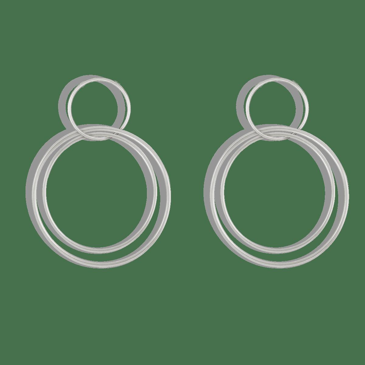 گوشواره نقره سه دایره