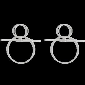 گوشواره نقره دایره و خط