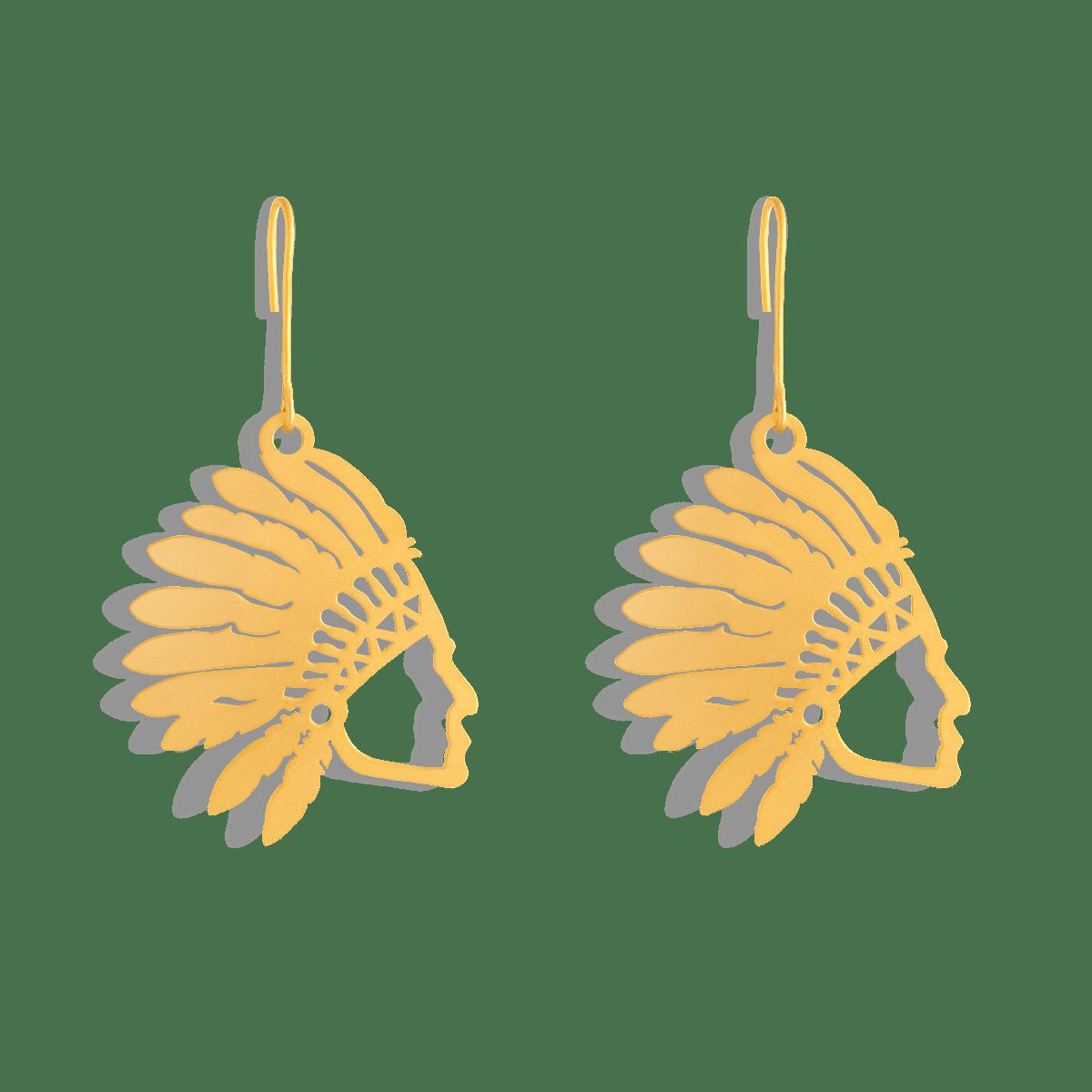 گوشواره طلا سرخپوست