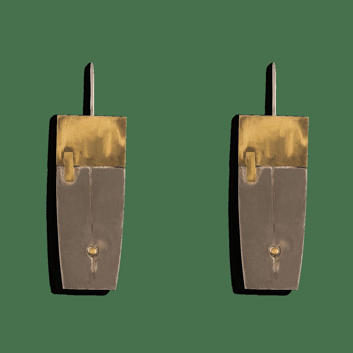 گوشواره نقره و برنج