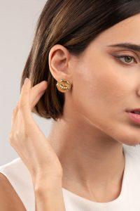 گوشواره طلا لب