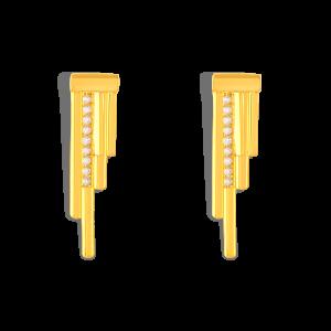گوشواره طلا خطی