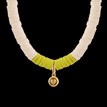 گردنبند طلا تابستان با آویز دایره