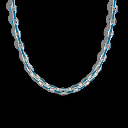 گردنبند نقره بلو انامل بلچر Blue Enamel Belcher
