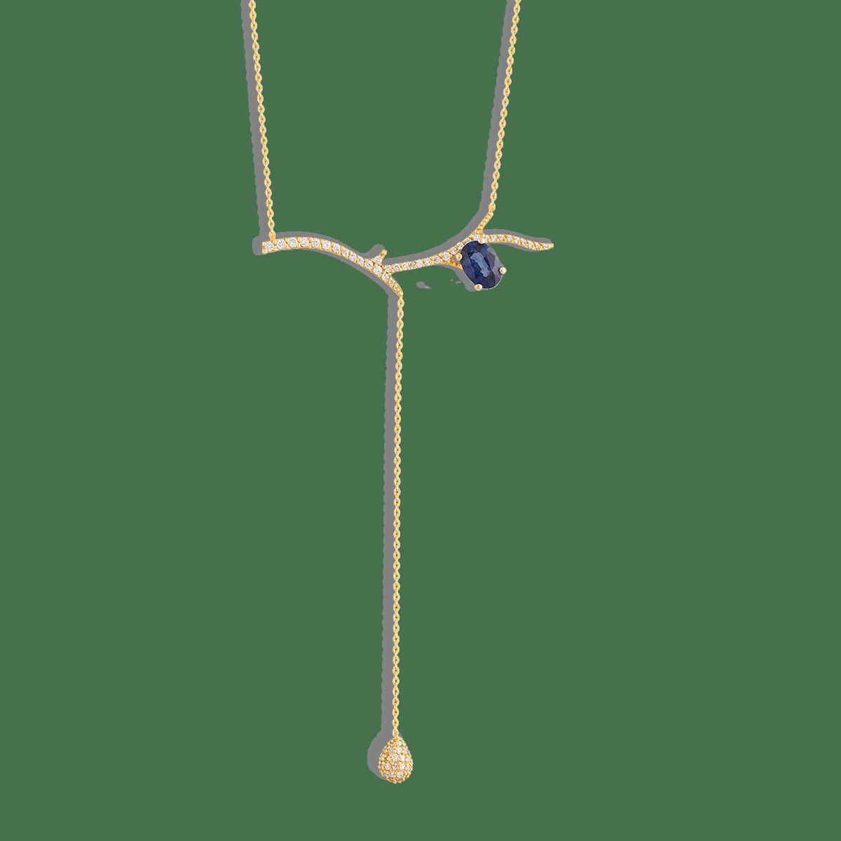 گردنبند طلا یاقوت کبود