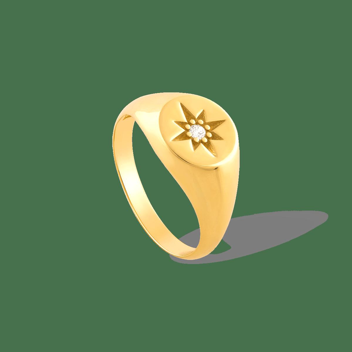 انگشتر طلا پینکی ستاره