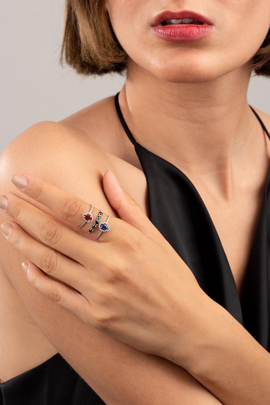 انگشتر طلا سفید دینا Dinah