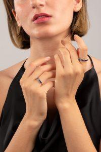 انگشتر طلا سفید لیویا Livia