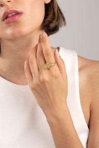 انگشتر طلا برگ