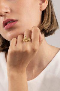 انگشتر طلا مار بزرگ