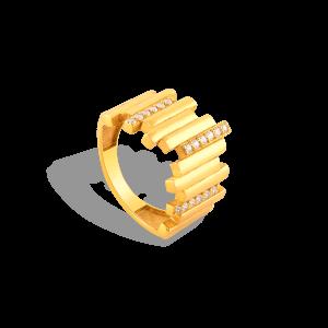 انگشتر طلا خطی
