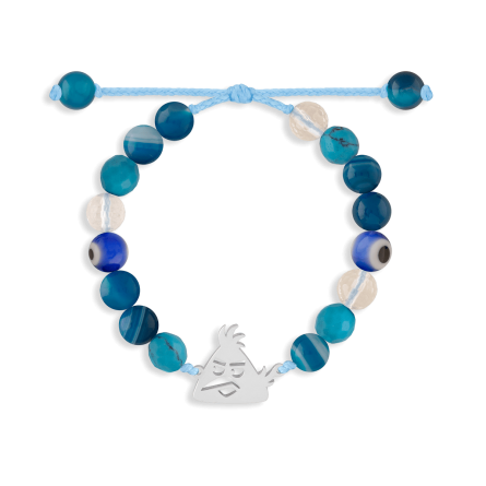 دستبند نقره بچهگانه سنگی Angry Bird