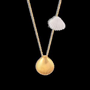 گردنبند طلا صدف و مروارید